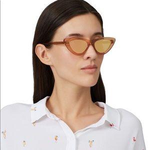 CHIMI 006 Cat Eye Mirror Sunglasses Peach